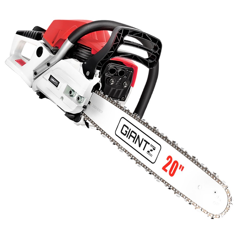 Giantz 62CC Commercial Petrol Chain Saw - Red & White