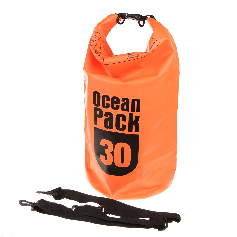 2 x Ocean Pack Waterproof Dry Bags 30Ltrs. Buyers Note - Discount Freight R