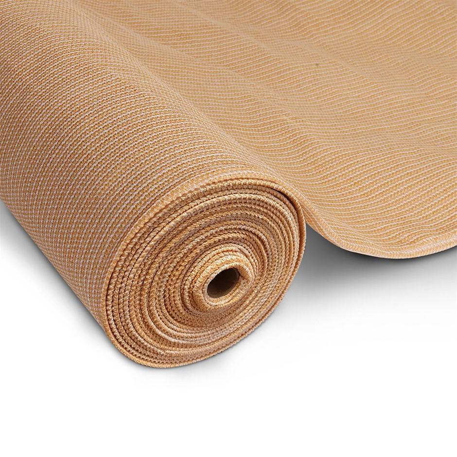 Instahut 70% UV Sun Shade Cloth 3.66x30m Beige