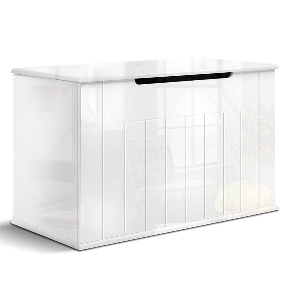 Artiss Baby Toy Box Nursery Wood Storage Chest Organizer - White