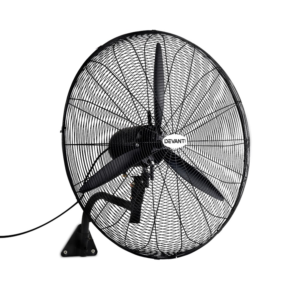 Devanti Industrial Wall Mounted Fan - Black