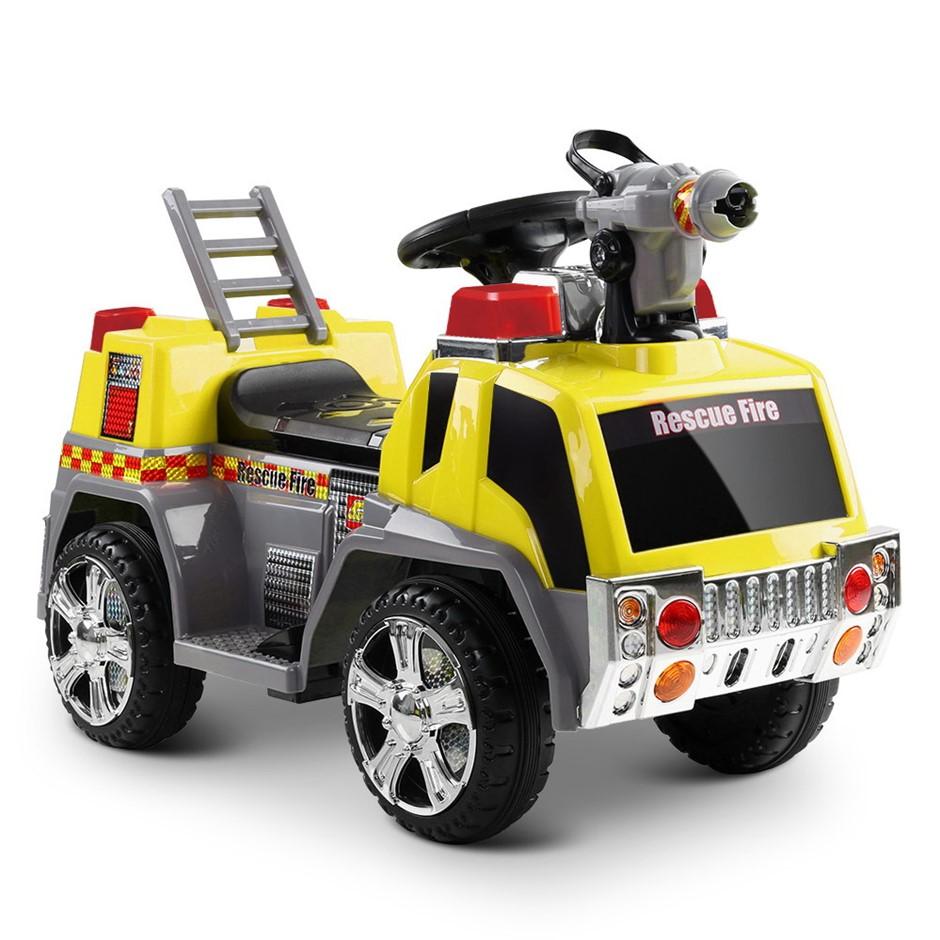 Rigo Kids Ride On Fire Truck Car - Yellow