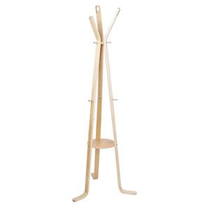 Artiss Wooden Coat Hanger Stand - Beige