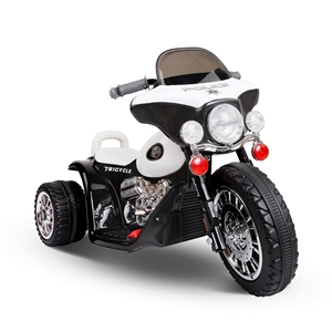 Rigo Kids Ride On Motorbike - Black & Wh