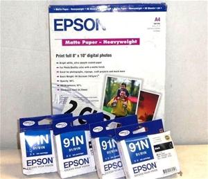 4 Pack Epson 91N Black Ink Cartridge