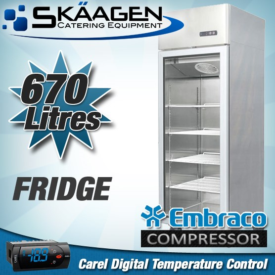 Unused SINGLE DOOR DISPLAY FRIDGE 670L - MCC01-GL