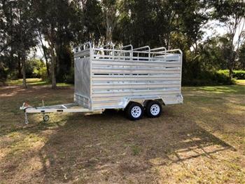New Cattle Trailer - Galvanised Cattle Tandem (12 x 6 ft)