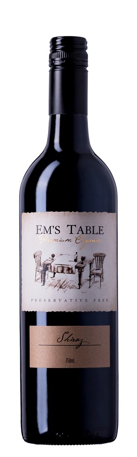 Em's Table Organic Preservative Free Shiraz 2016 (6 x 750mL) Clare Valley