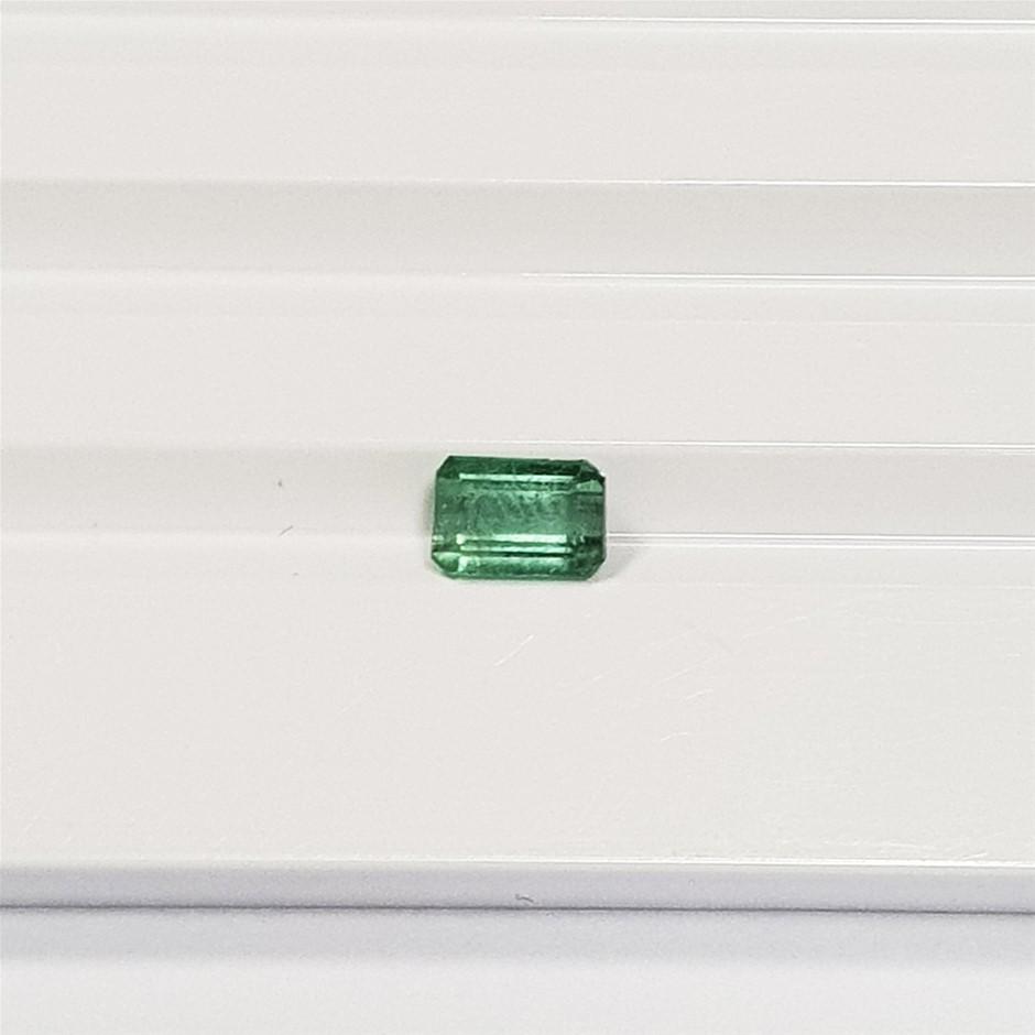 1.23 ct Emerald Cut Natural Green Tourmaline