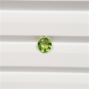 0.54 ct Round Cut Natural Peridot