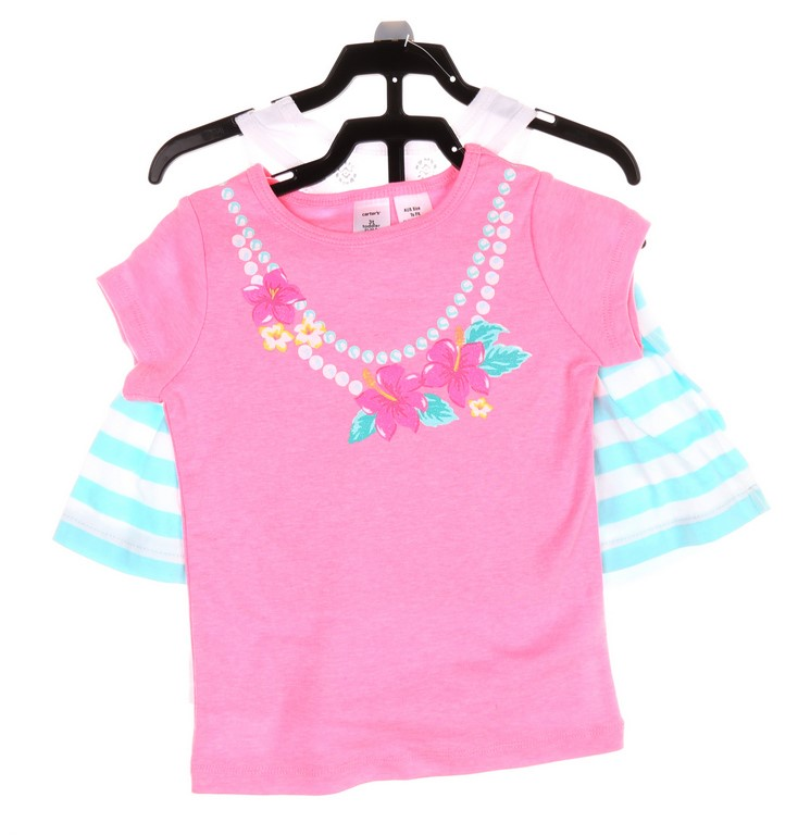 CARTER`S Girl`s 3pc Clothing Set, Size 4T, Comprising; T-Shirt, Singlet & S
