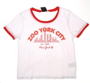 2 x ZOO YORK Women`s City Crew Neck T-Sh