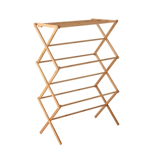 Artiss Folding Bamboo Clothes Dry Rack T