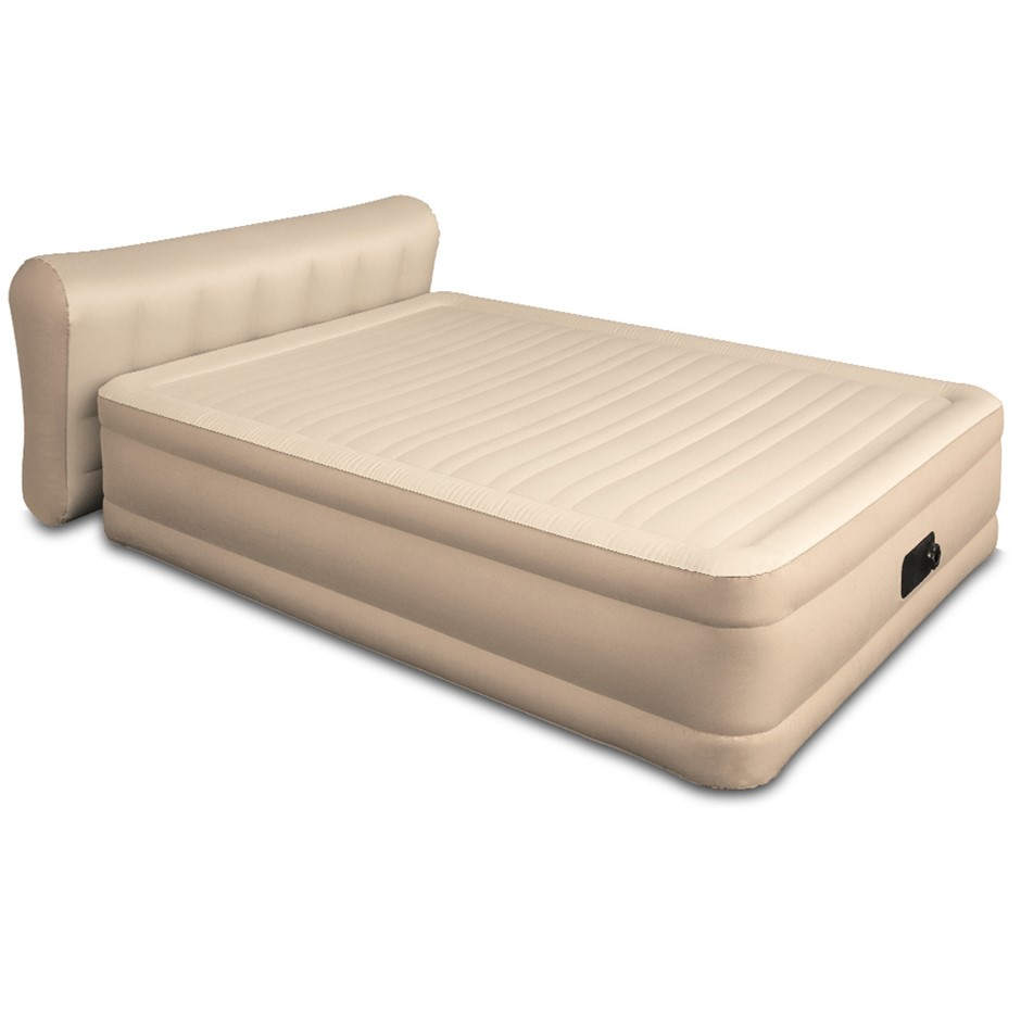 Bestway Queen Air Bed Inflatable Blow Up Mattress Built-in Pump Camping