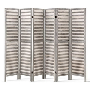 Artiss 6 Panel Room Divider Privacy Wood