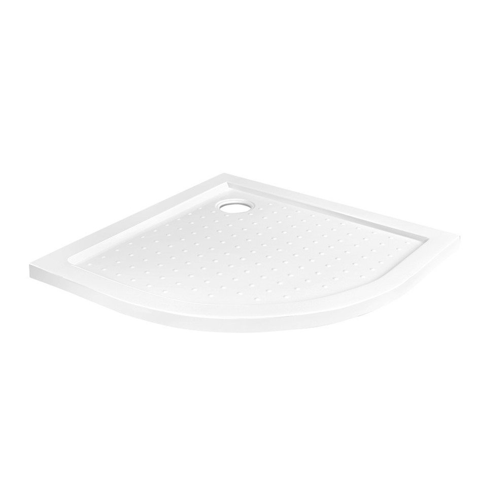 Cefito Shower Base Over Tray Acrylic ABS Fiberglass Curved 800mm Bathroom