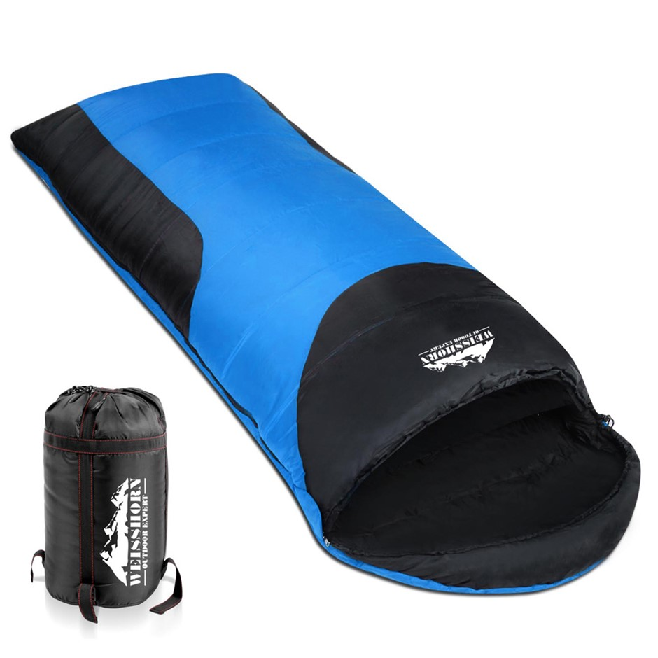 Weisshorn Camping Sleeping Bag Single Size With Carry Bag