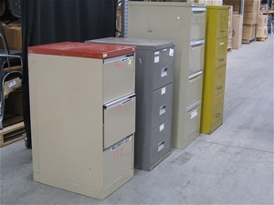 Qty 4 x Unknown Metal Filing Cabinets