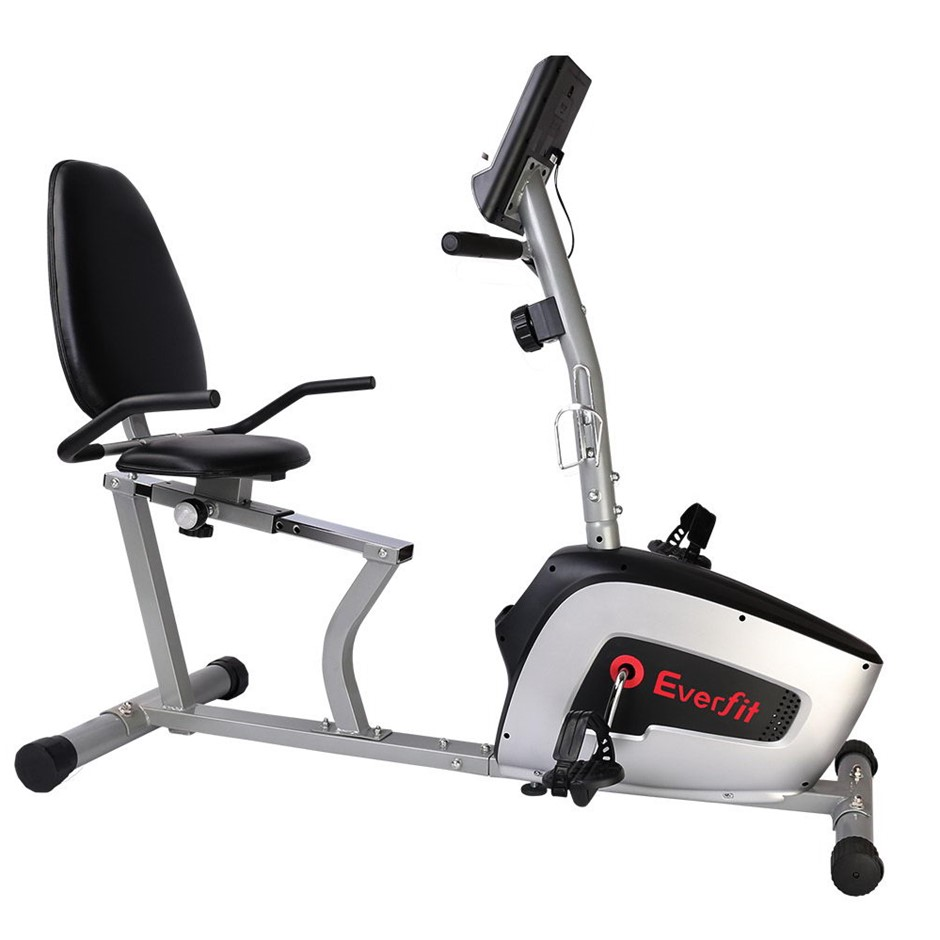 Everfit Magnetic Recumbent Exercise Bike Fitness Trainer with LCD Display