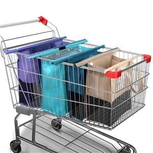 LOTUS Set of 4 Shopping Trolley Bags Reu