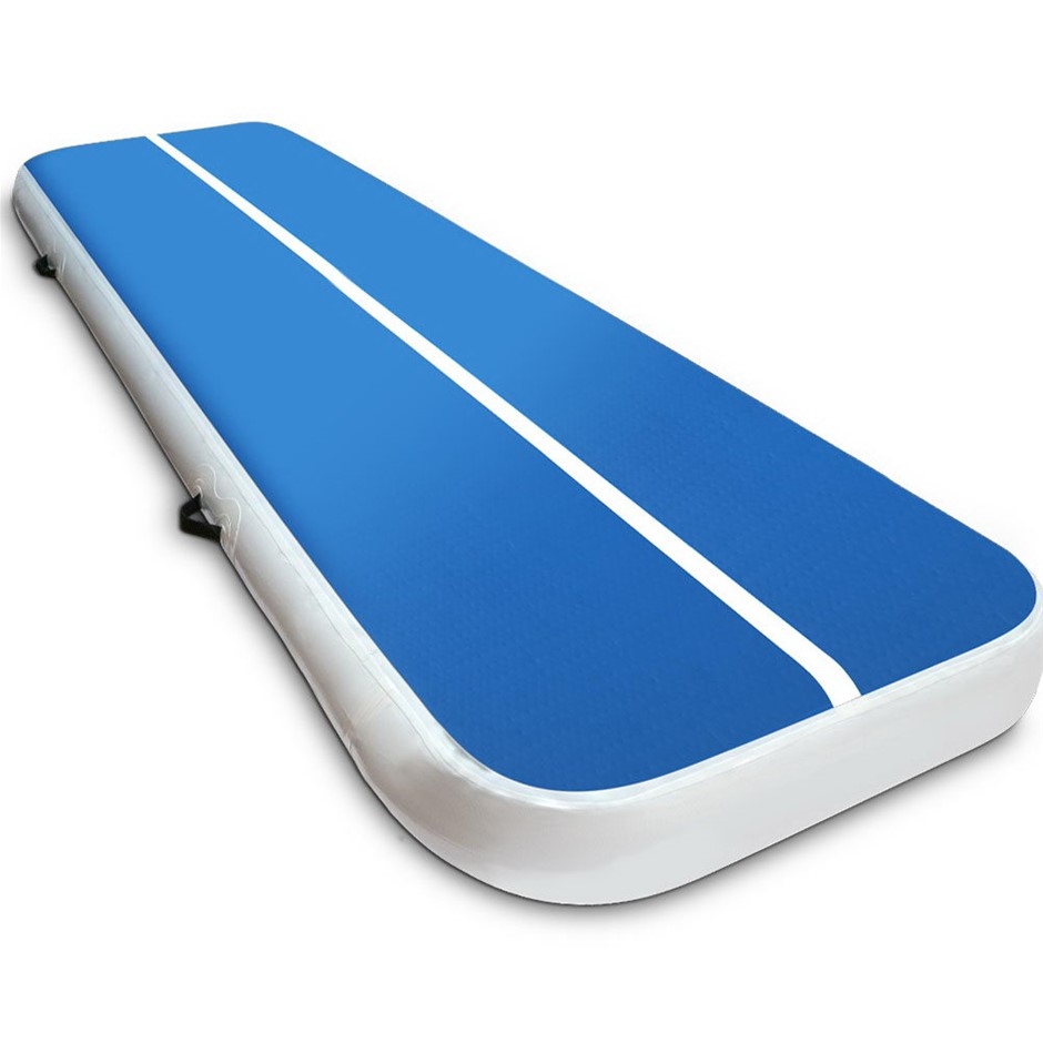 Everfit Inflatable Air Track Mat Gymnastic Tumbling 3m x 100cm - Blue