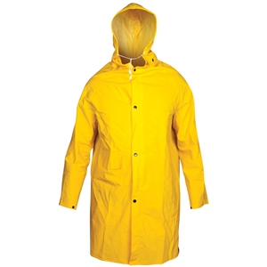 2 x TOLSEN PVC Rain Coat with Hood, 0.32