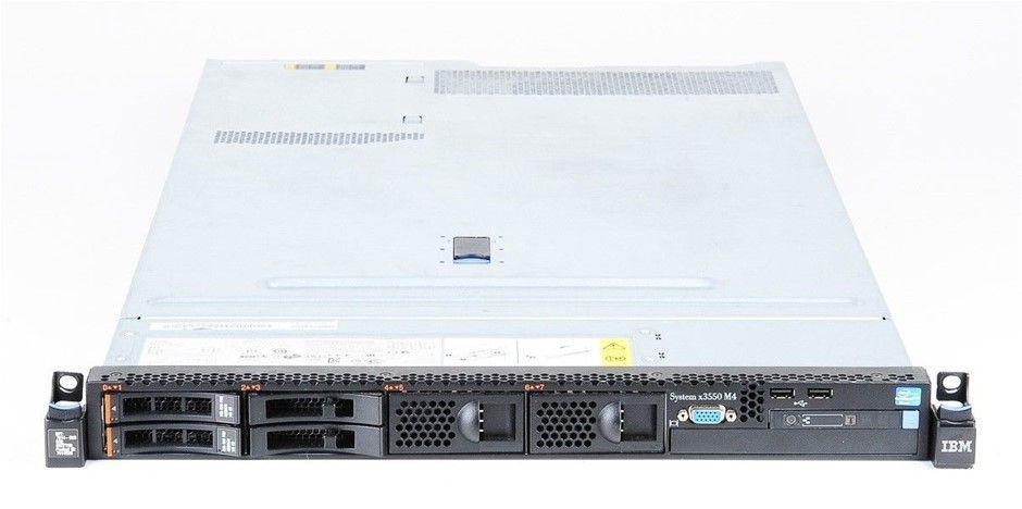 IBM X3550 M4 Rackmount Server 16-Cores 32GB RAM 1.2TB Storage