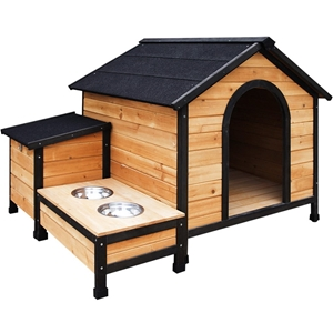 i.Pet Extra Large Wooden Pet Kennel with