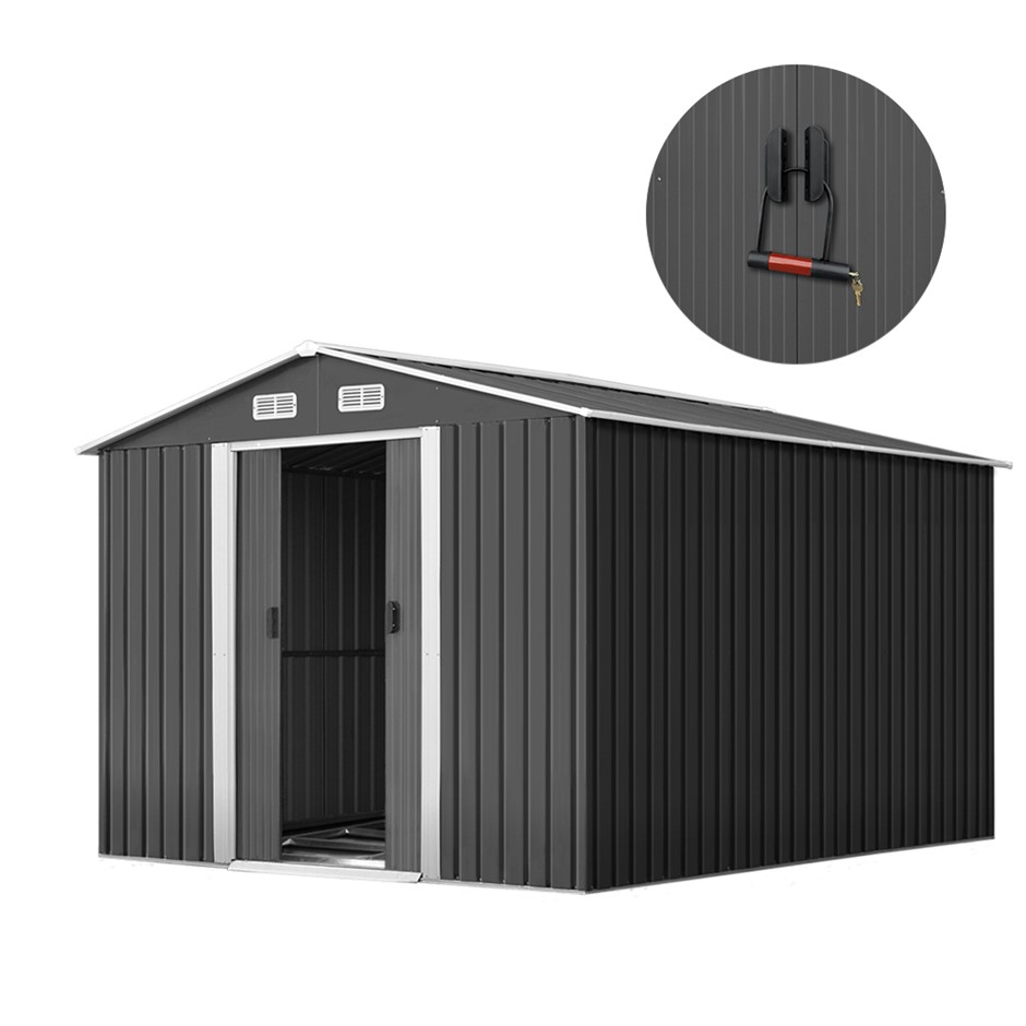 2.6x3.9x2M Cheap Shed Storage Garden Sheds Workshop Shelter Metal Tool