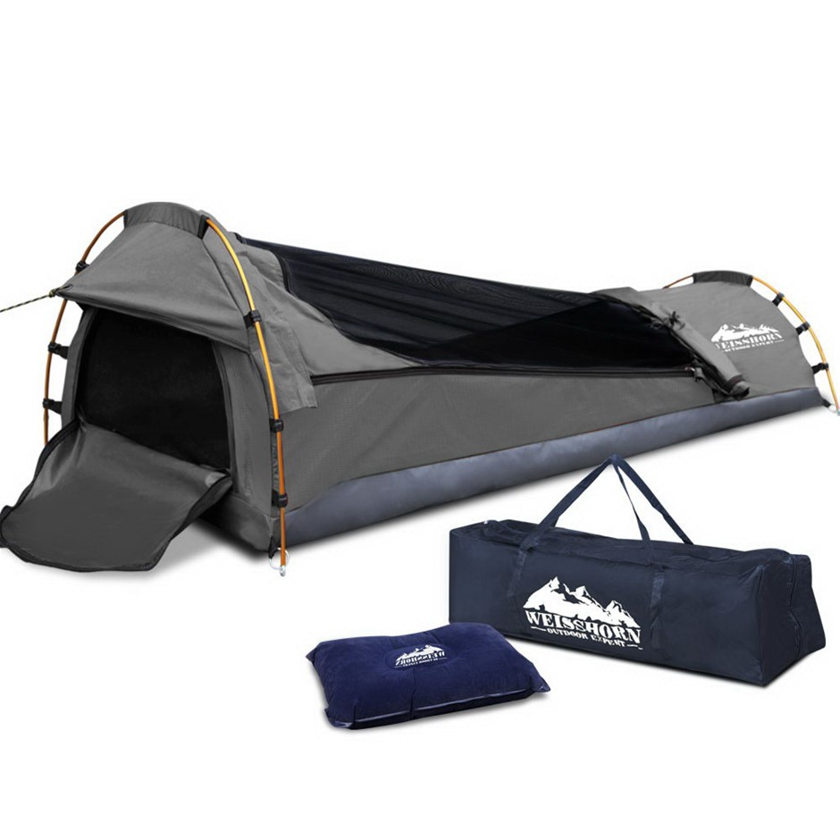 Weisshorn Single Size Canvas Tent - Grey