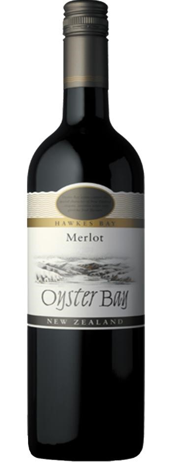 Oyster Bay Merlot 2017 (6 x 750mL), Hawke's Bay, NZ.
