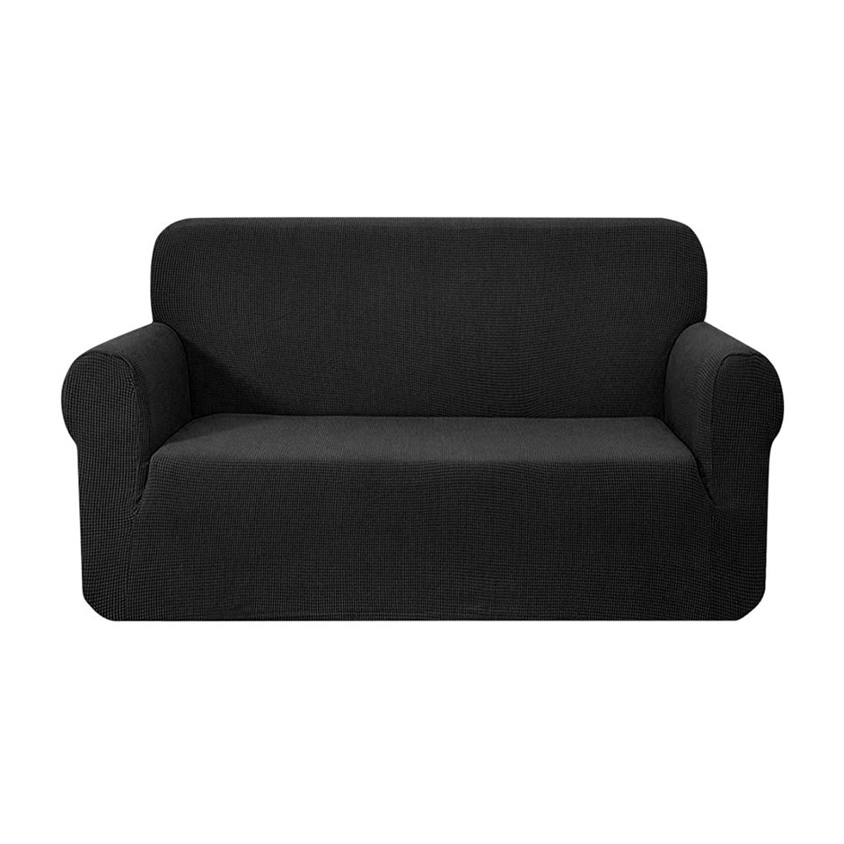 Artiss High Stretch Sofa Lounge Protector Slipcovers 2 Seater Black
