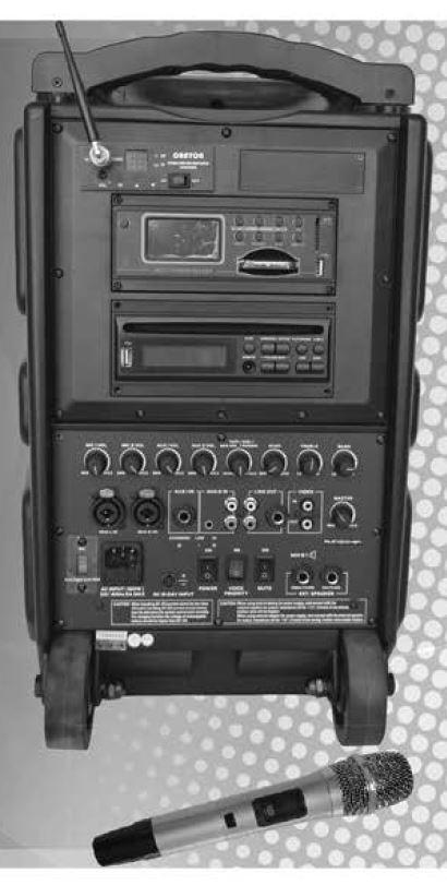 Orator Audio PA9610 Portable DVD PA System