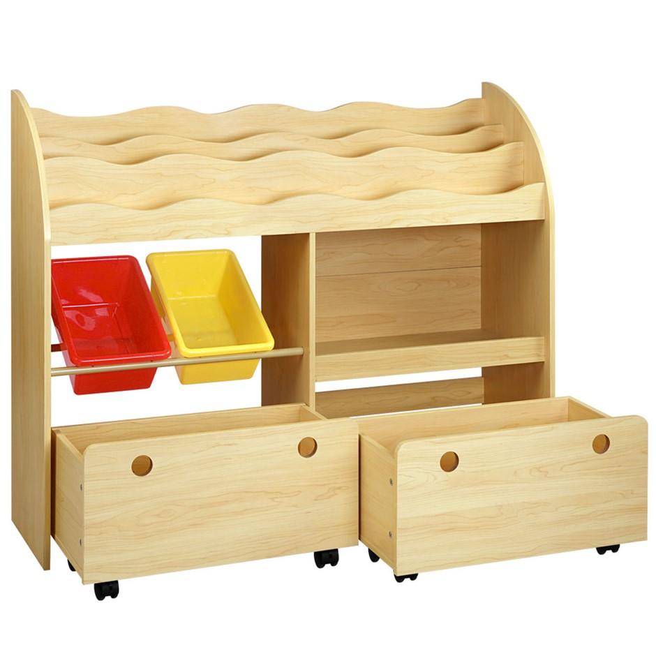 Artiss Kids Bookshelf Toy Box Children Organizer Bookcase Display Rack