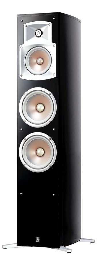 Yamaha NS-555 3-Way Bass-Reflex Tower Speaker (Piano Black) (Single)