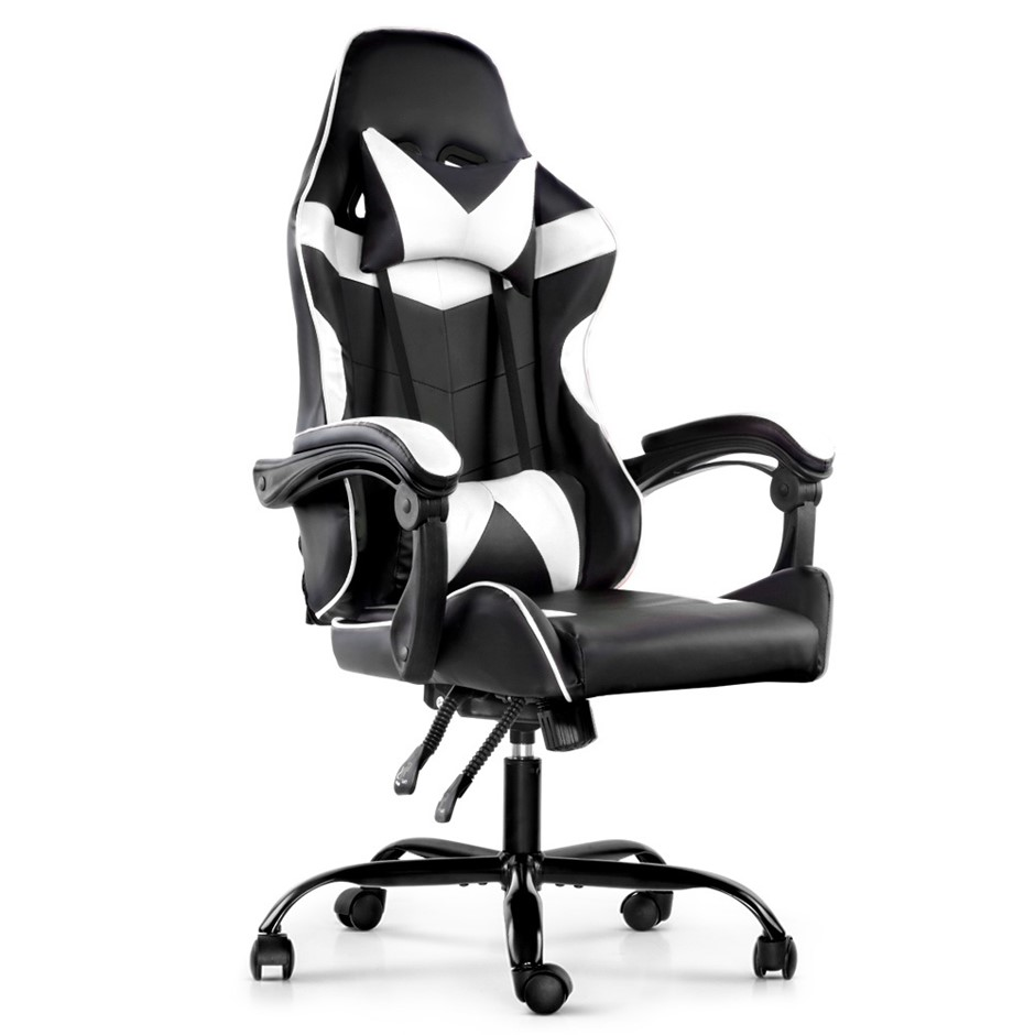 Artiss Gaming Office Chairs Computer Seating Racing Recliner Racer Black WH