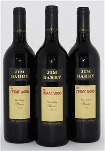 Jim Barry `McRae Wood` Shiraz 1999 (3x 7