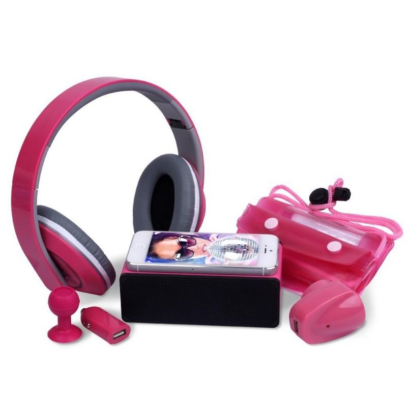 Laser 6 In 1 Essentials Bundle For Tablet / Smart Phone, Pink