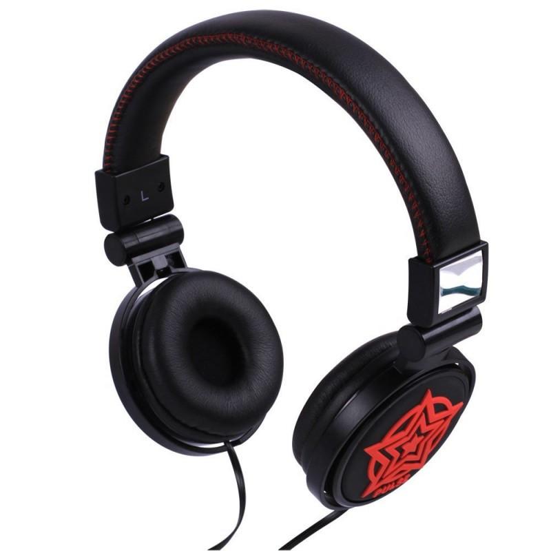 (3 Pack) Laser PULSE DJ Style Over Ear Headphones, Red (Star MOTIF)