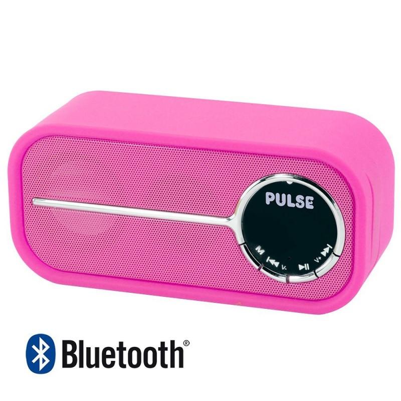 Laser PULSE Bluetooth Speaker with FM Radio, Pink