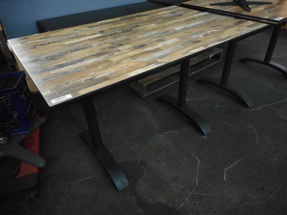 1 X Rectangular Café & Restaurant Style Table And 1 X Restaurant Chair