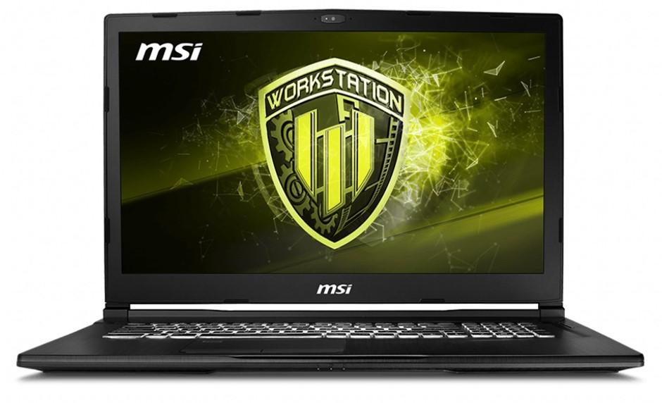 MSI WE73 8SJ-228AU 17.3-inch Full HD Mobile Workstation Notebook, Black