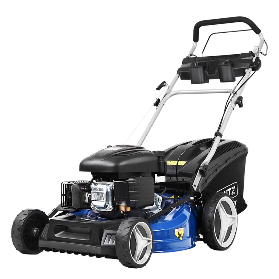 Giantz Lawn Mower Self Propelled 21 220cc 4 Stroke Petrol Mower Grass Catch
