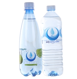 75fe658aeb ... Infused & Pure Spring Water, 600ml. 74 x NU Assorted Lightly Sparkling  Lime