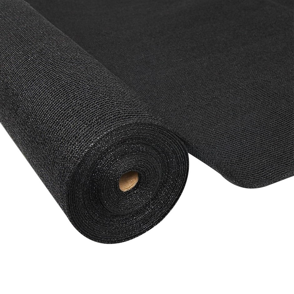 Instahut 50% Sun Shade Cloth 1.83x30m Sail Roll Mesh Outdoor Black