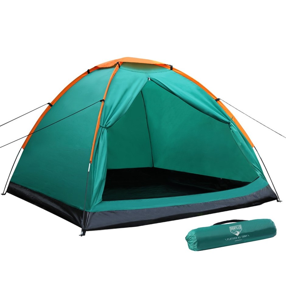 Bestway 3 Person Camping Tent Dome Canvas Swag Hiking Canvas Beach Tent