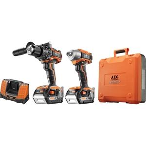 AEG 18V Brushless 2pc Combo Drill Kit, I