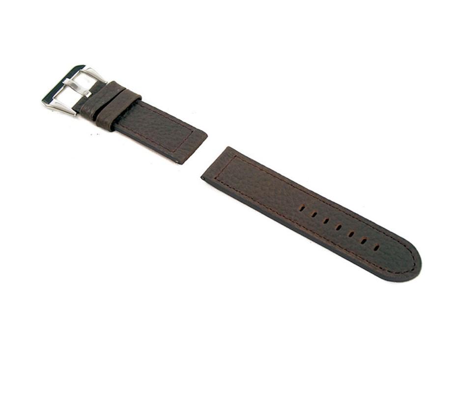 Dark Brown Genuine Leather Strap 26/26 with Buckle fits Panerai Watch