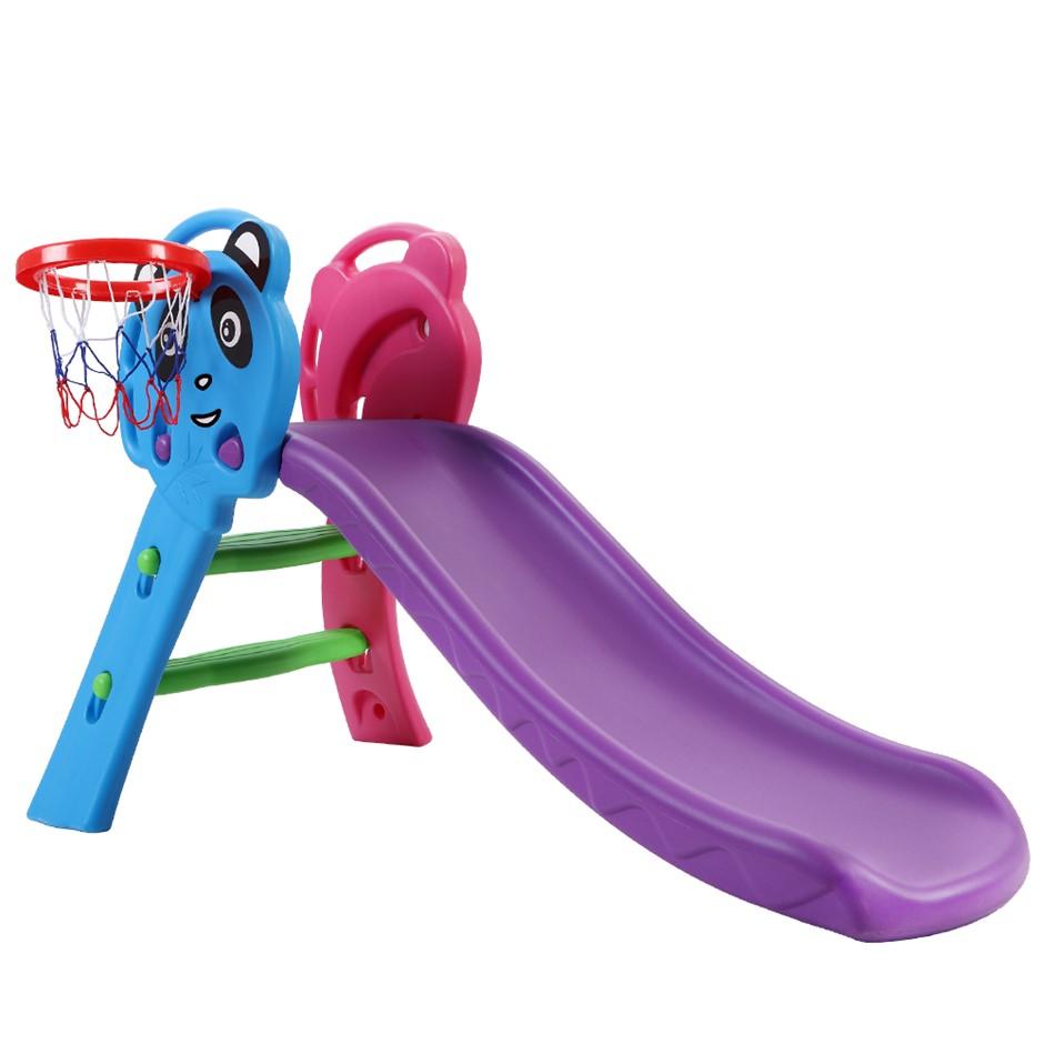 Keezi Kids slide Outdoor Indoor Playground Basketball Hoop Play Activity