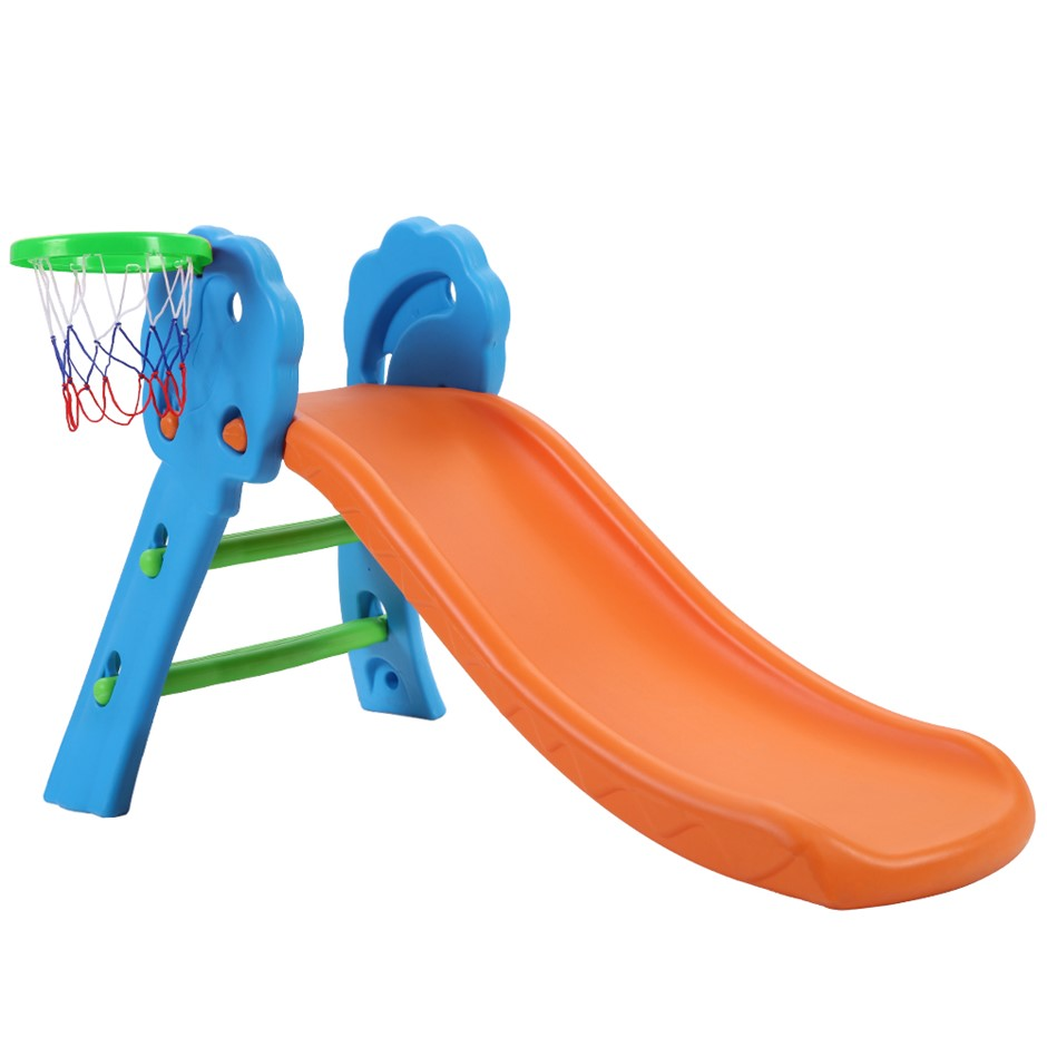 Keezi Kids Slide with Basketball Hoop Playground Toddler Play